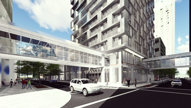 Blackbird Investments plans to build a 29-story tower at the site of the former Younkers department store in downtown Des Moines.
