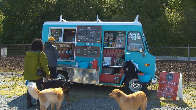 The Seattle Barkery food truck serves baked goods for dogs.