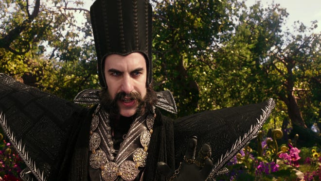 """Sacha Baron Cohen as Time in """"Alice Through the Looking Glass."""""""