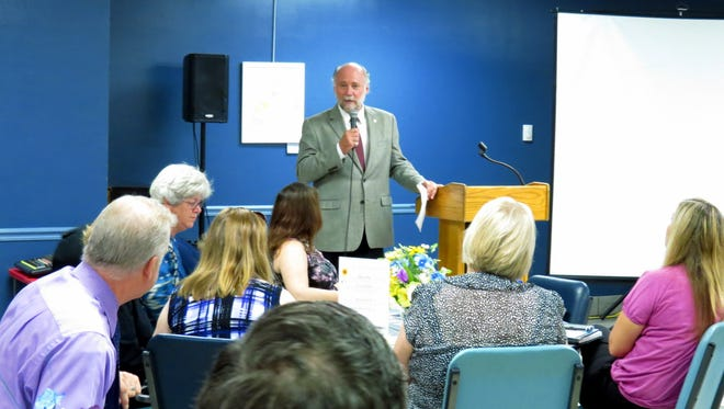 City Commissioner Gil Ziffer addresses discusses the findings of the 2016 AARP Age-Friendly Community Survey on Wednesday at the Tallahassee Senior Center.