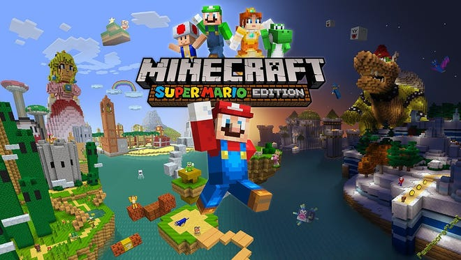 """The """"Minecraft Wii U Edition"""" features a Super Mario theme."""