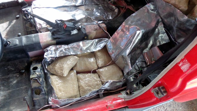 Seventy-five bundles of marijuana were discovered by U.S. Border Patrol agents hidden in an after-market compartment of a late model Volkswagen Bug. The contraband has a street value of over $60,000.