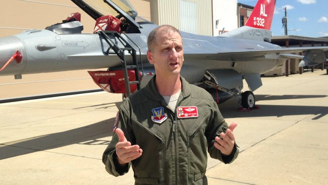 Col. Randal Efferson, the commander of the 187th Fighter Wing.