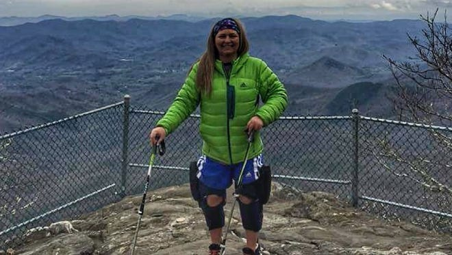 Stacey Kozel is hiking the nearly 2,200 miles that make up the Appalachian trail.