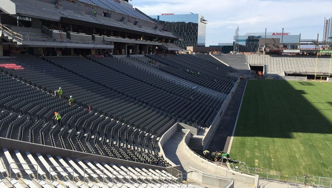 A view of the seats on the west side of Sun Devil Stadium on July 28, 2016.