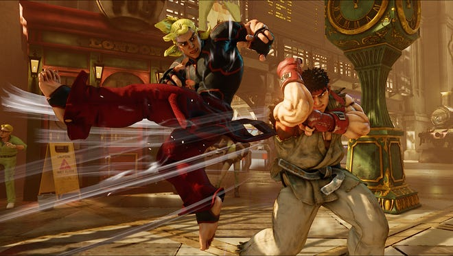 The bromantic Shoto buddies Ken and Ryu in Street Fighter V.