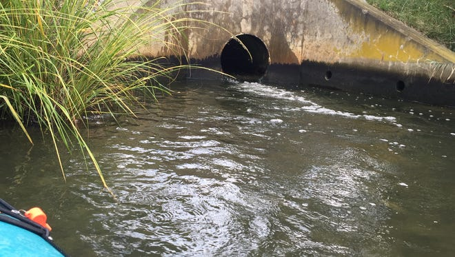 The Rehoboth Beach wastewater outfall pipe discharges into Lewes & Rehoboth canal near Rehoboth Bay.