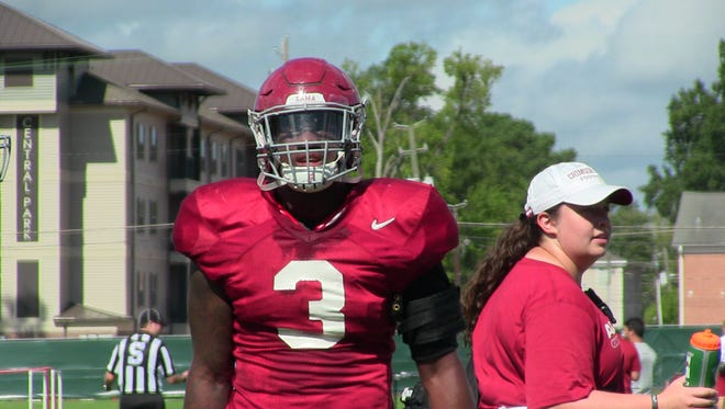 Linebacker Mack Wilson prepares for his first year at Alabama.