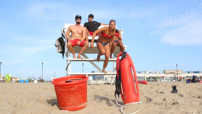 Asbury Park lifeguards train on the beach they protect during the day. Asbury Park, NJFriday, August 12, 2016@dhoodhood