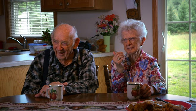 Ralph and Ruth Phillips try to remember what ignited their then-73-year marriage.