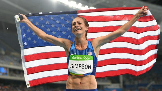 Jenny Simpson, after winning the bronze medal at the Rio Olympics