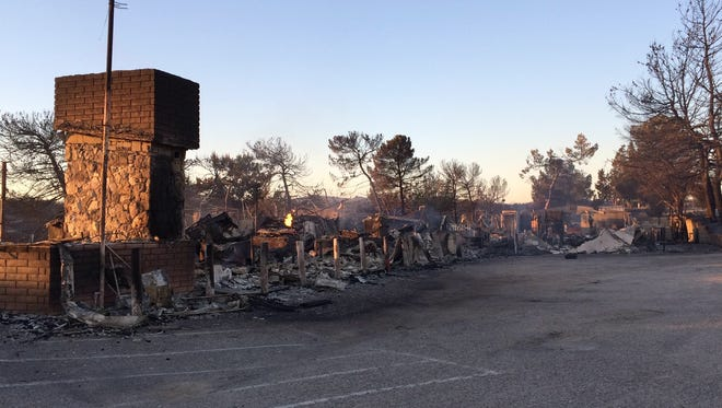 The Summit Inn, a Route 66 landmark diner, was destroyed by the Blue Cut Fire Tuesday.