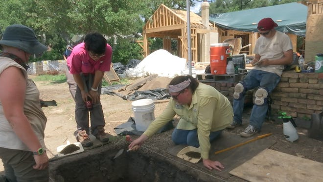 Archaeology students from the University of West Florida excavate Florida's first attempted settlement while new construction takes place nearby.