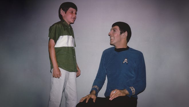 Adam Nimoy, left, enjoys time with dad Leonard Nimoy in this 1960s photo.