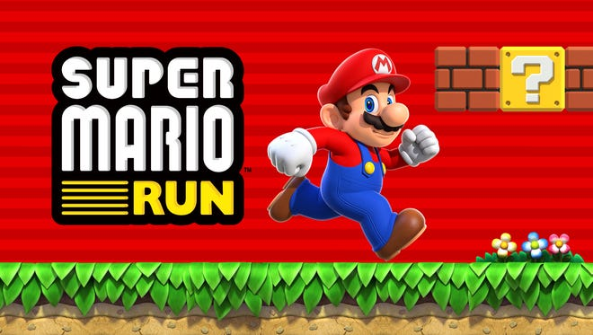 Super Mario Run for the iPhone and iPad.