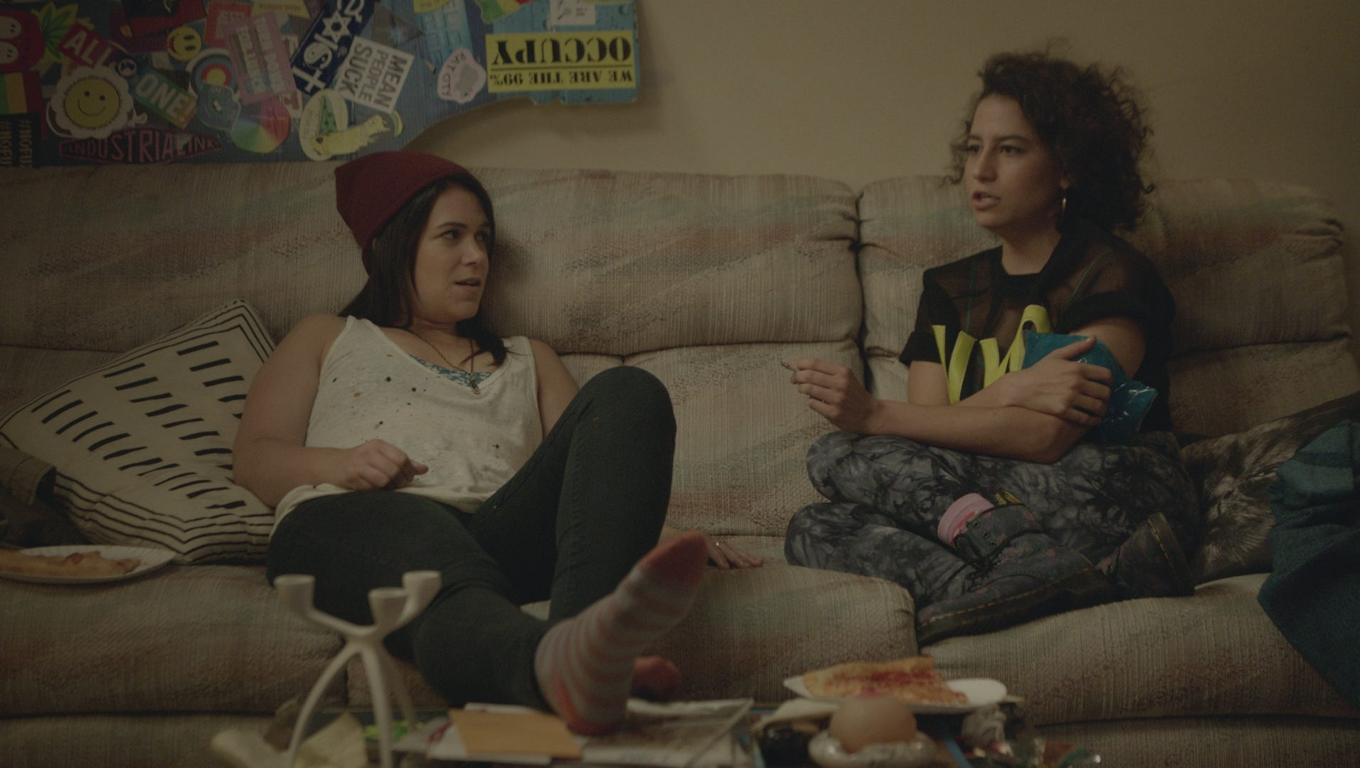 "Abbi (Abbi Jacobson, left) and Ilana (Ilana Glazer) are blazing BFFs in ""Broad City."""