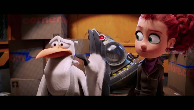 "It's up to Junior (Andy Samberg) and Tulip (Katie Crown) to save the day in ""Storks."""