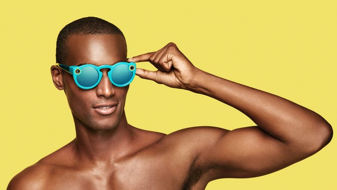 Promo shot from Snapchat of the new Spectacles video glasses