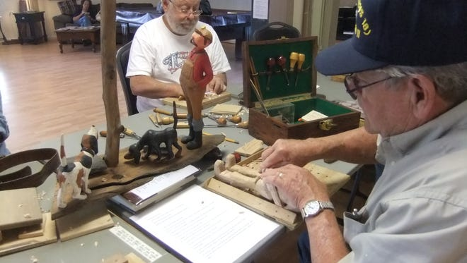Jim Kilpatrick, a folk artist carver with 25 years experience is part of the newly formed woodcarving group.