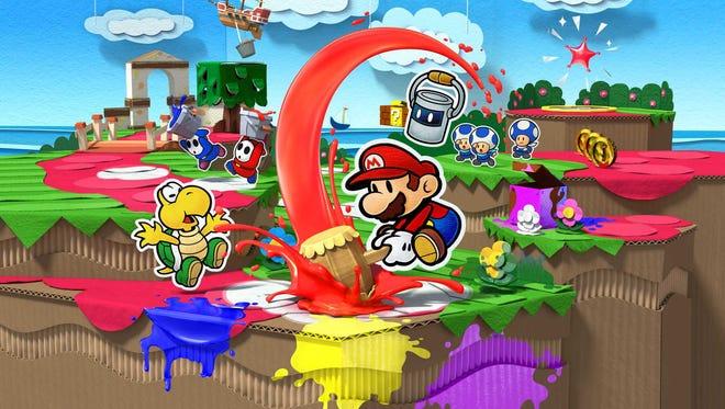 """Paper Mario: Color Splash"" Wii U review."