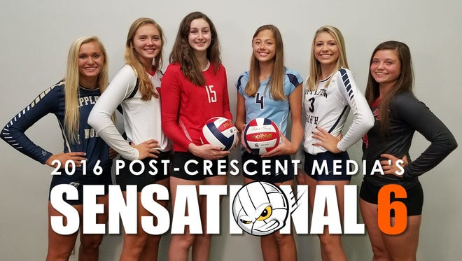 Post-Crescent Media's Sensational 6 volleyball players for 2016.