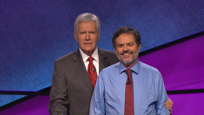 University of Cincinnati law library director/law professor Ken Hirsh, right, is pictured with Jeopardy! host Alex Trebek.