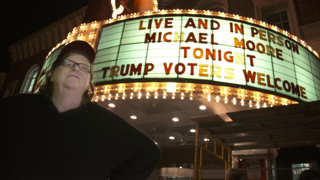 Michael Moore goes to bat for Hillary Clinton in his polarizing new documentary, 'Michael Moore in TrumpLand.'
