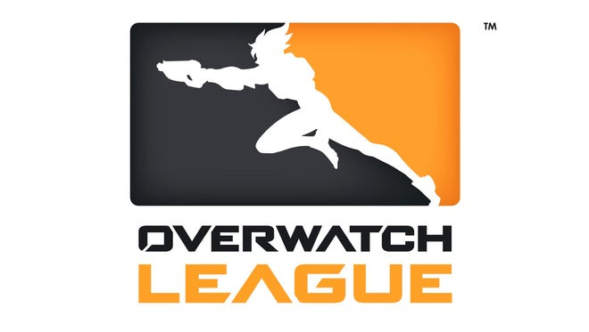 A logo for The Overwatch League.
