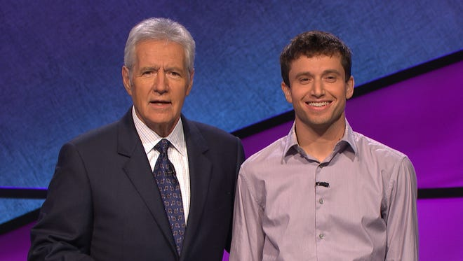 "Dan Chafetz (right), of Essex Junction, will appear Nov. 29 with host Alex Trebek on ""Jeopardy!"""