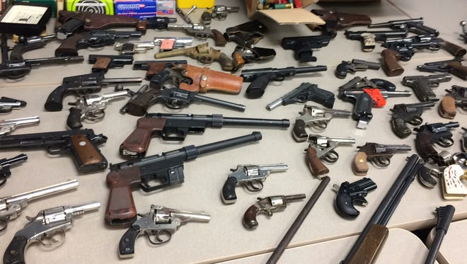 These guns were recovered by police as part of a gun buyback program.