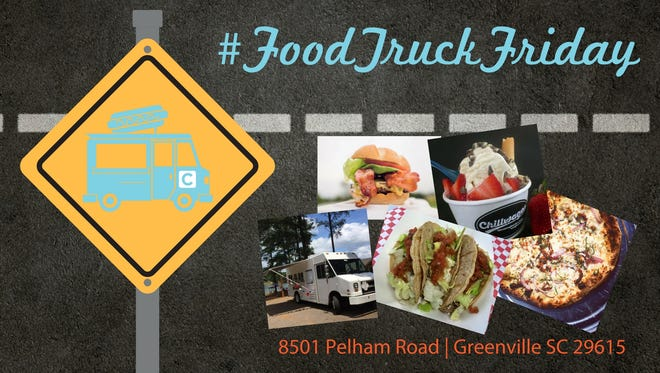 Corley Plumbing Air Electric holds Food Truck Friday events the second Friday of each month at the company's 8501 Pelham Road location.