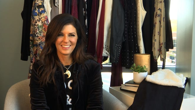This Nov. 18, 2016 image taken from video shows Karen Fairchild of the country group Little Big Town during an interview in Nashville, Tenn. Fairchild and others are leading a new wave of musical style out of Nashville that's focused on dressing fabulously every day. The Fair Child collection, which launched this year at select Macy's stores and online, reflects Fairchild's love of high fashion, vintage clothes and glamour, but tailored to be approachable and affordable.