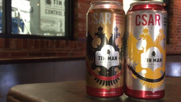 Burbon barrel-aged Csar (left) was released for Tin