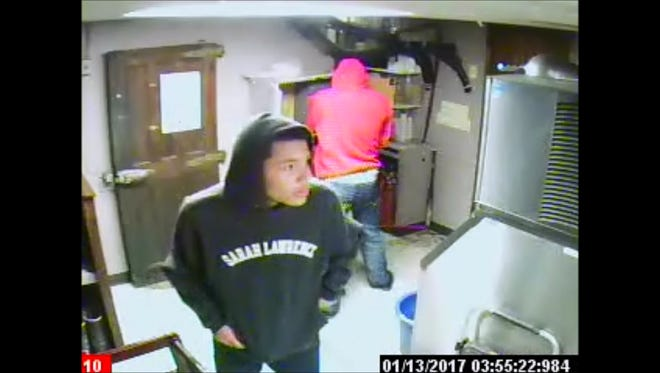 A snapshot of suspects police believe burglarized Tag's in Big Flats.