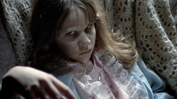 "Linda Blair plays possessed Regan MacNeil in the 1973 horrorfilm ""The Exorcist."""