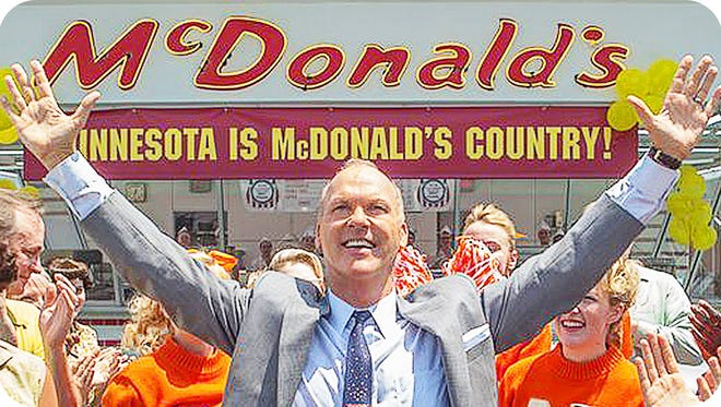 Michael Keaton stars as Ray Kroc in the story of the McDonald's fast food chain.