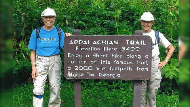 Sisters Elrose Couric, 80, and Sue Hollinger, 80, hiked the Appalachian Trail.