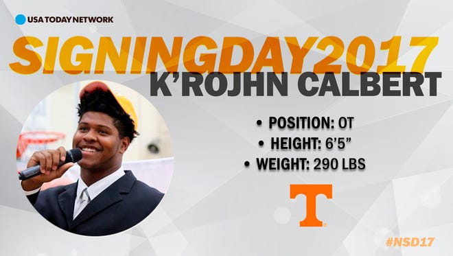 2017 University of Tennessee football recruit