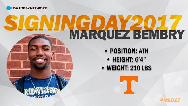 2017 University of Tennessee football recruit