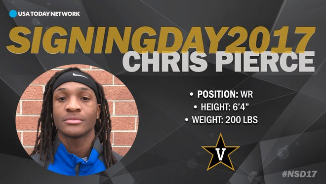 2017 Vanderbilt University football recruit  Chris Pierce