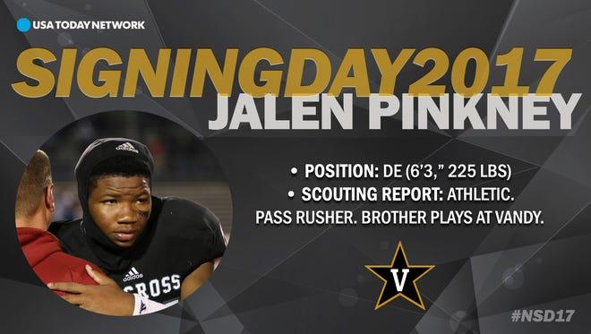 2017 Vanderbilt University football recruit Jalen Pinkney