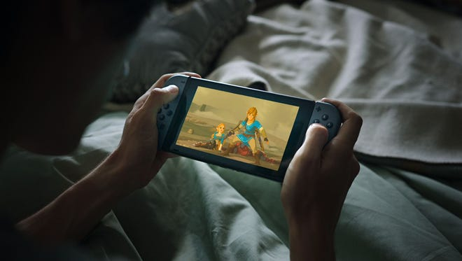 A screenshot from Nintendo's ad for the Switch, running during the fourth quarter of Super Bowl LI.