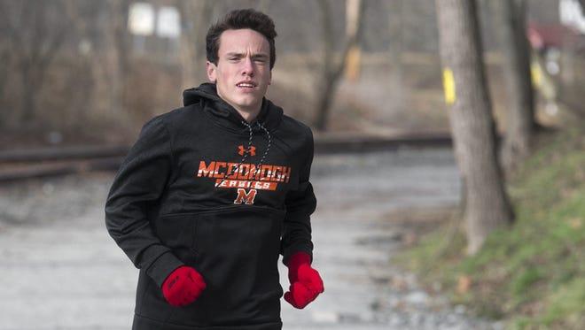 Dalton Hengst won the boys' mile at the prestigious Penn Relays in 2017.