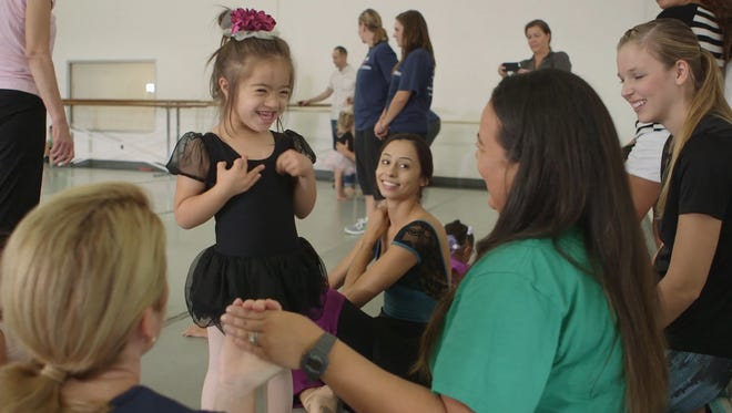 Girls with developmental and physical disabilities are getting the chance to dance next to professional ballerinas as part of a program to build their mobility and confidence.
