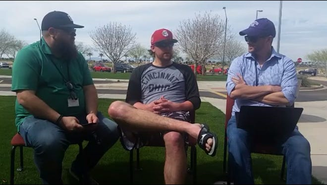 Cincinnati Reds reliever on the Reds Beat live chat at the team's spring training complex in Goodyear, Ariz.