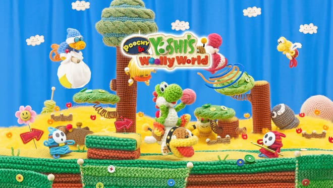 Poochy and Yoshi's Woolly World for Nintendo 3DS.