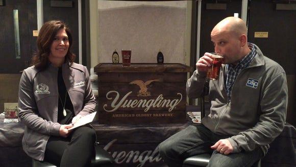 Mike Hartz drinks Yuengling