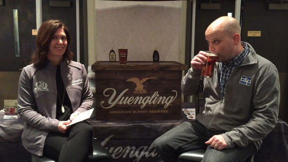 Mike Hartz drinks Yuengling