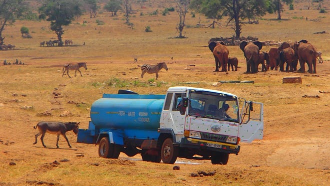 Patrick Kilonzo Mwalua takes much-needed water to extremely dry areas of Kenya.