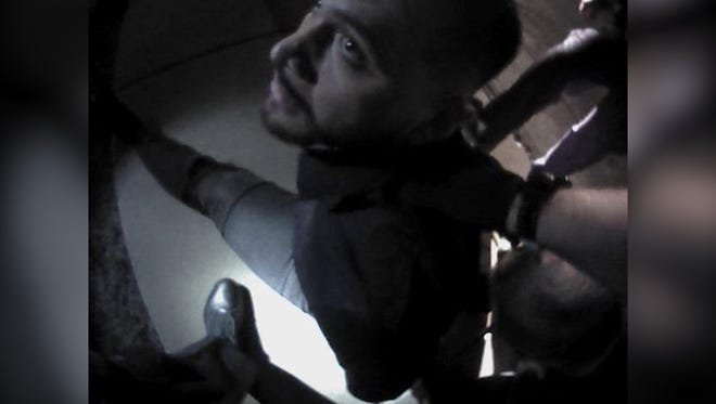 David Parry, as seen in footage of his Scottsdale arrest.